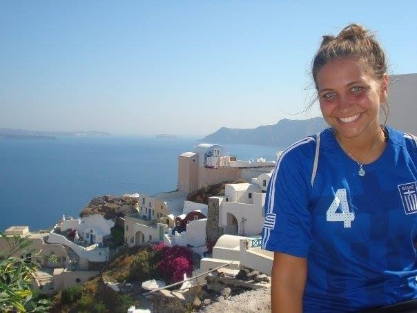 Girl on EF Tours Greece Tour in Santorini