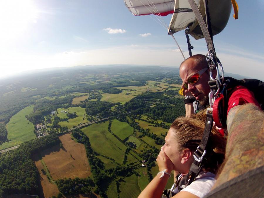 girl skydiving in VA