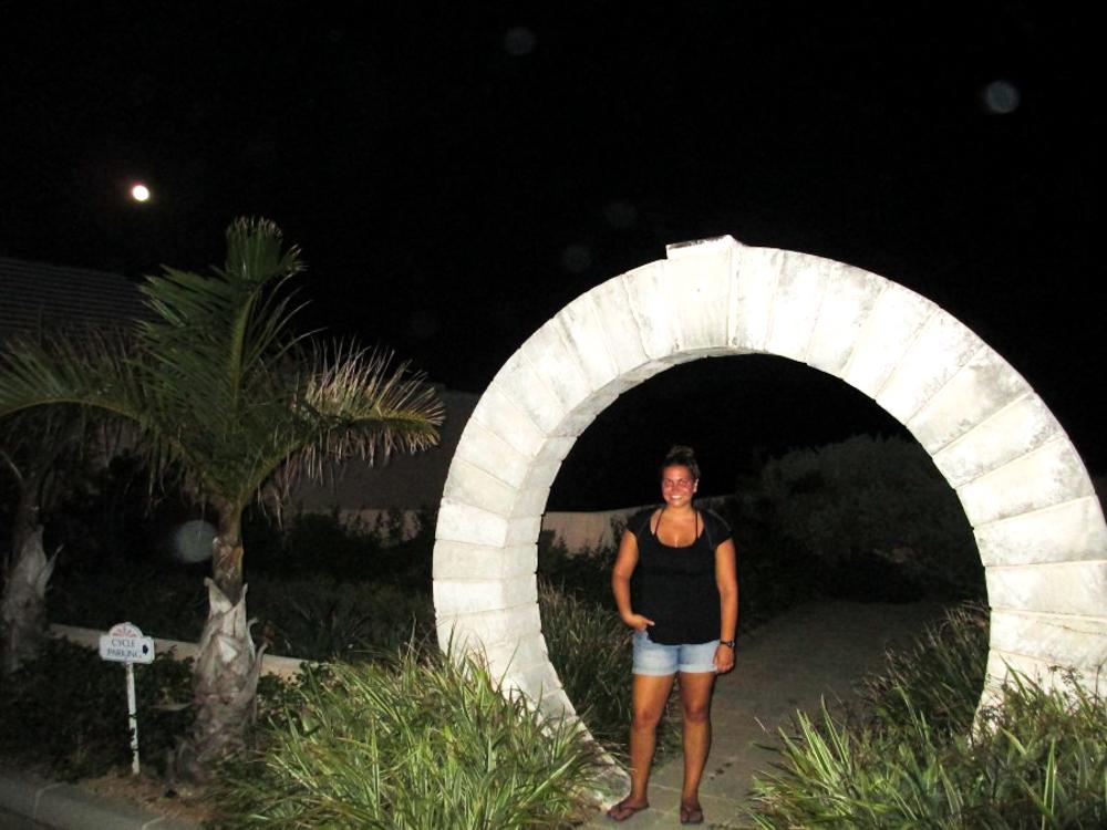 A mon gate in Bermuda