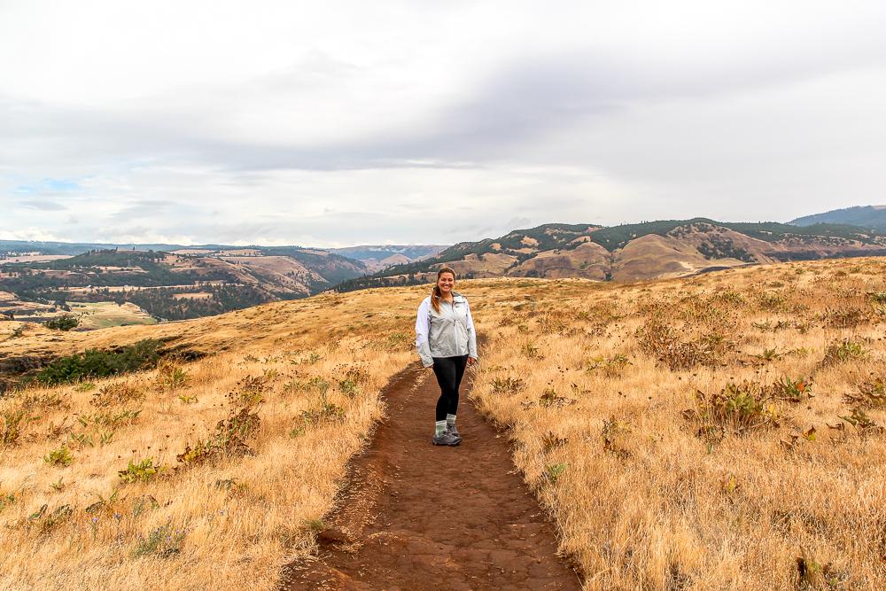 Girl hiking in Oregon