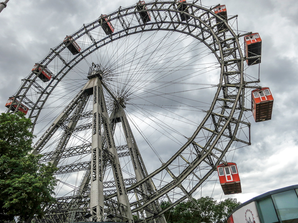 Ferris wheel at Pratar amusement park in Vienna