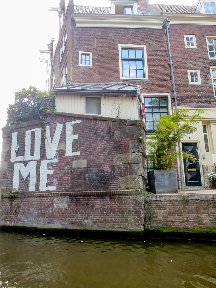Love Me sign in Amsterdam