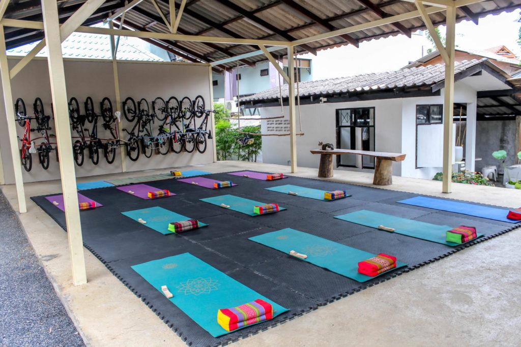 Empty Yoga room