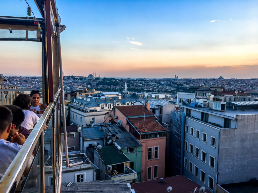 Rooftop restaurant in Istanbul