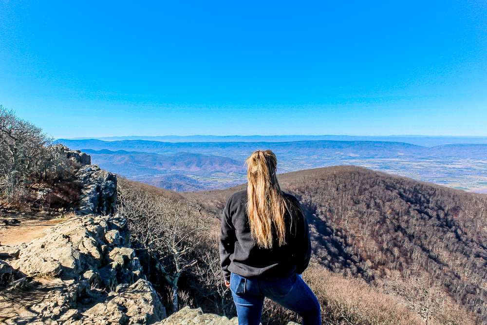 Girl hiking in VA