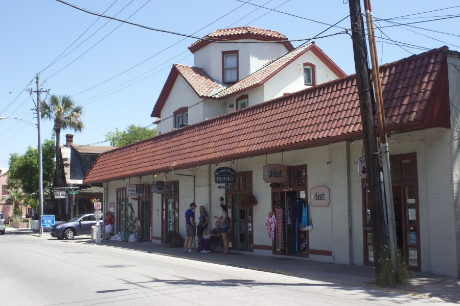 A few shops near St. George Street in St. Augustine Old Town