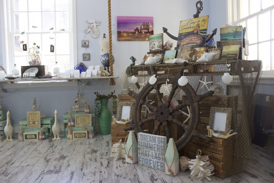 The inside of Serenity Blue Jewelry shop in St. Augustine
