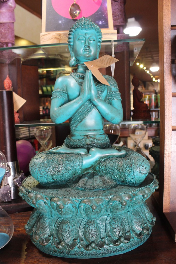 A Blue buddha from EarthBound in St. Augustine