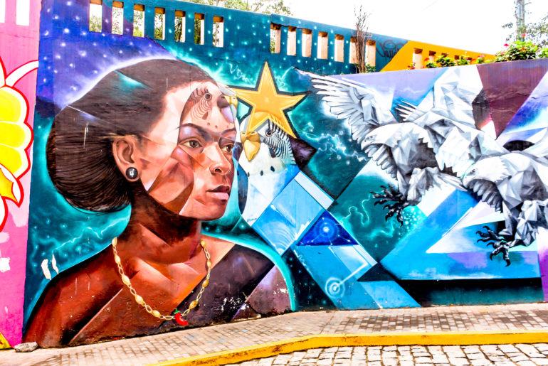 mural in lima peru