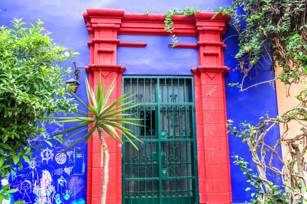 colorful door in Lima Peru