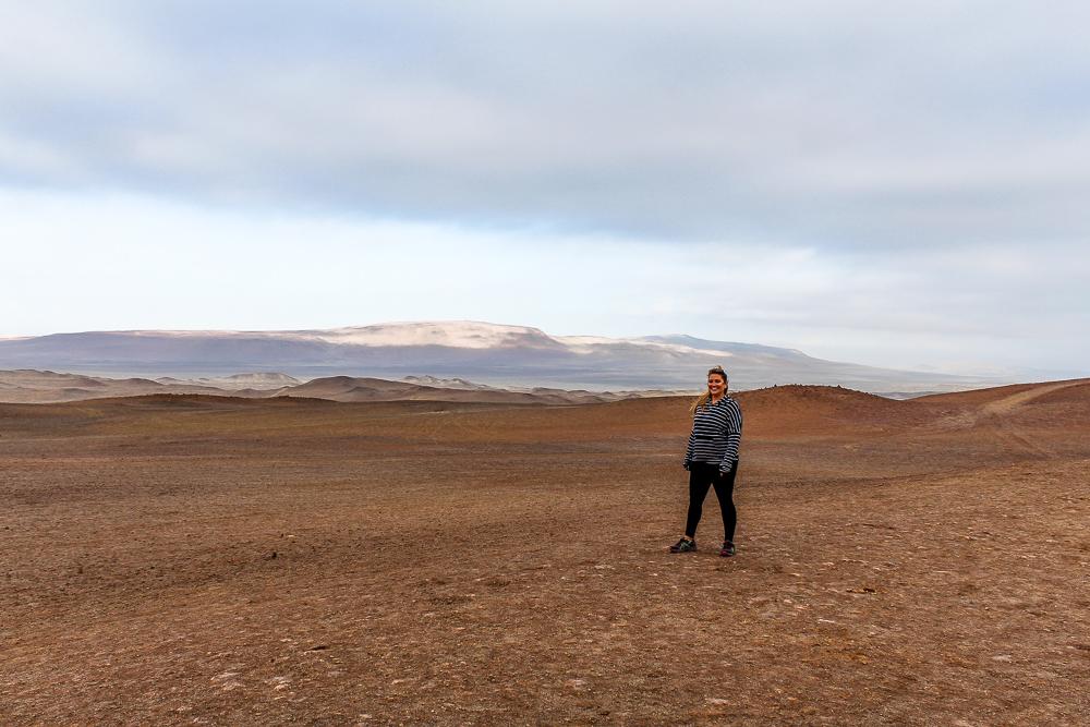 Girl in desert in Peru