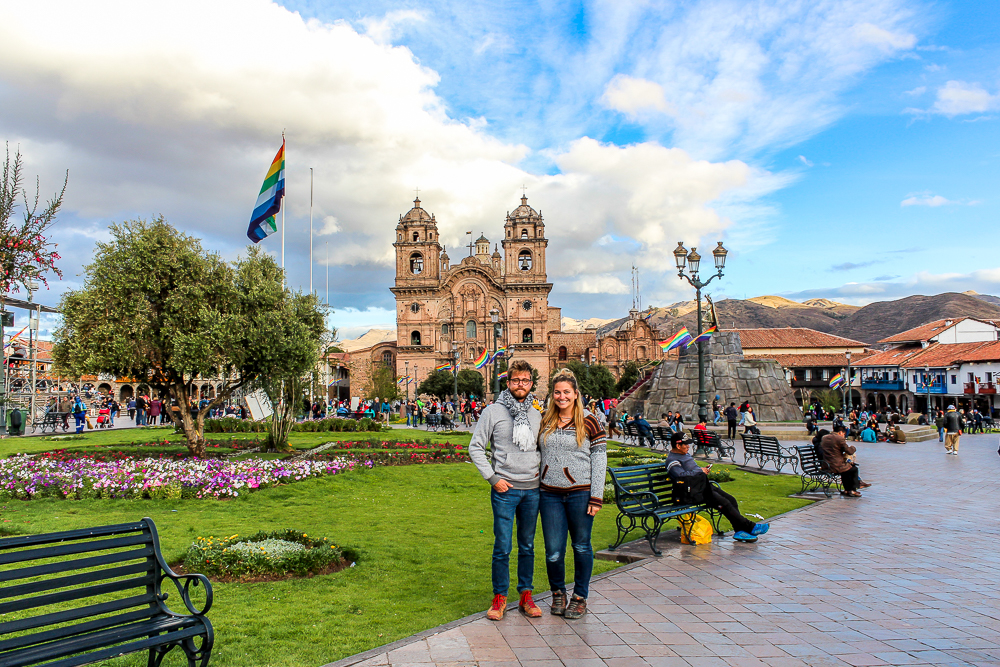 Coupl ein Cusco Peru city center