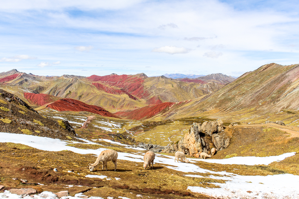 Rainbow mountain hike view