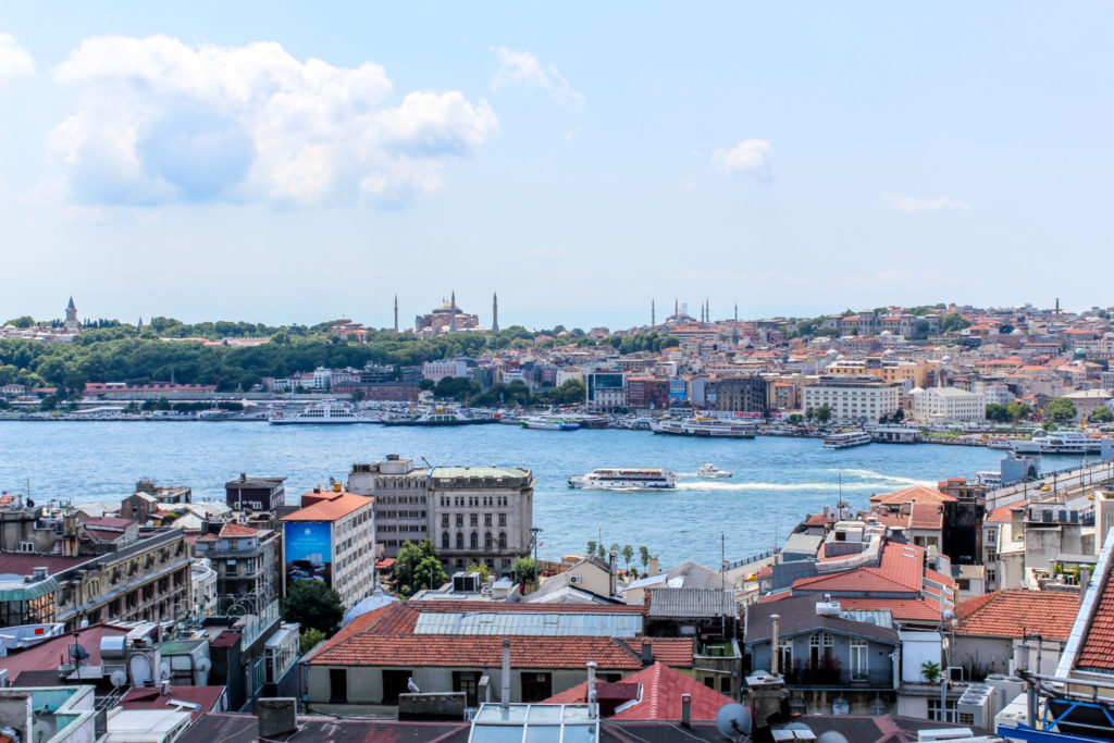 View of Istanbul from above
