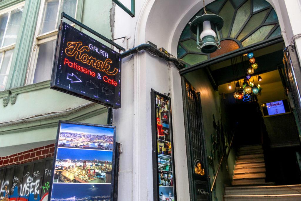 Galata Konak restaurant sign