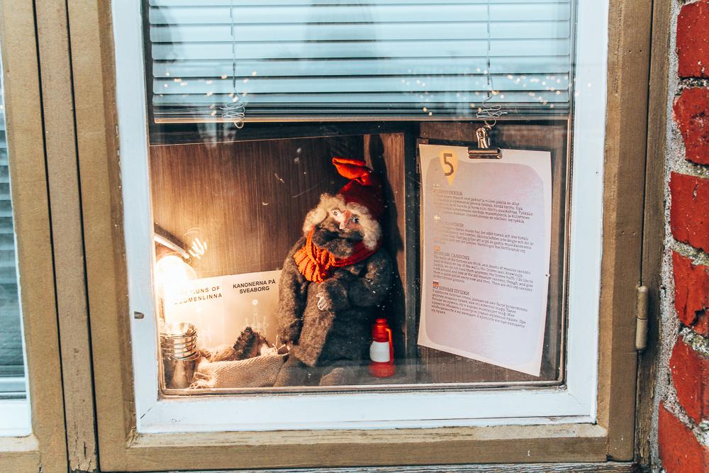 Gnome in glass