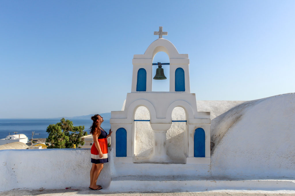 Girl on Santorini
