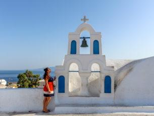 Girl on Santorini