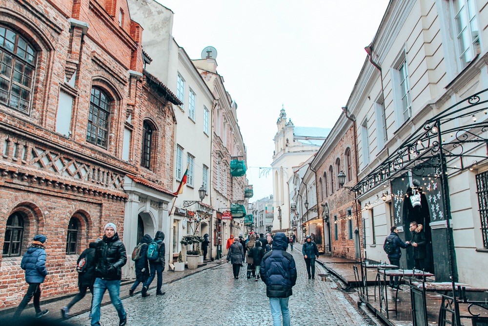 Street in Vilnius Old Town