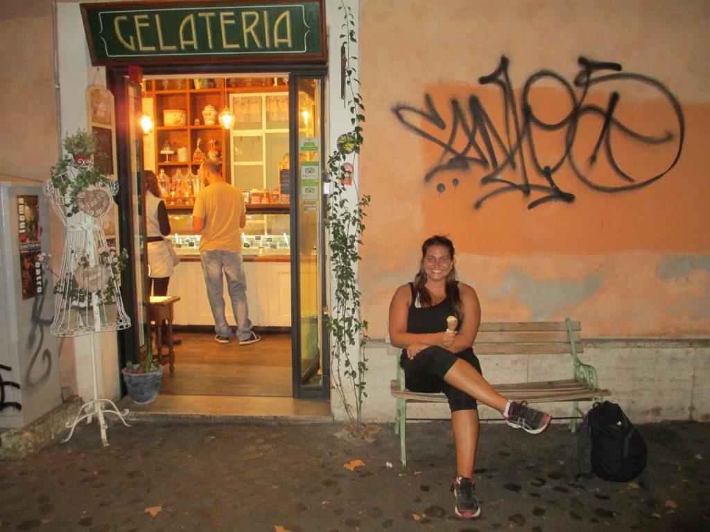 Gelato place in Rome