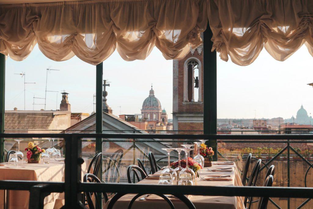 rooftop restaurant in rome